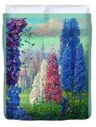 Elf And Fantastic Flowers Duvet Cover