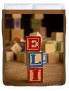 Eli - Alphabet Blocks Duvet Cover