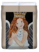 Eliana Little Angel Of Answered Prayers Duvet Cover by The Art With A Heart By Charlotte Phillips