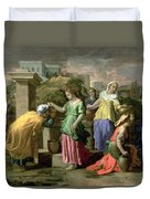 Eliezer And Rebecca At The Well Duvet Cover