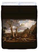 Elijah In The Desert Duvet Cover
