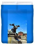 Elk And Monument Duvet Cover