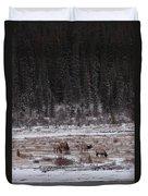 Elk Landscape Duvet Cover