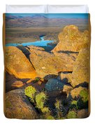 Elk Mountain Sunset Duvet Cover