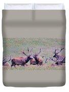Elk On The Plains 2 Duvet Cover