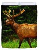 Elk Portrait Duvet Cover