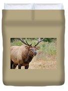 Elk Staring Duvet Cover