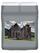 Elkhorn Ghost Town Public Halls - Montana Duvet Cover