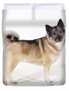 Elkhound Dog Duvet Cover