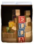 Ella - Alphabet Blocks Duvet Cover