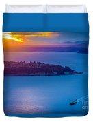 Elliott Bay Sunset Duvet Cover