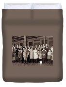 Ellis Island, C1908 Duvet Cover