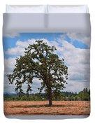 Elm Tree In Hay Field Art Prints Duvet Cover