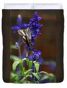 Elusive Zebra Swallowtail Duvet Cover