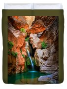 Elves Chasm Duvet Cover by Inge Johnsson