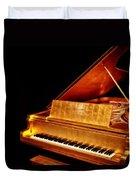 Elvis' Gold Piano Duvet Cover
