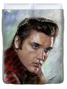 Elvis King Of Rock And Roll Duvet Cover