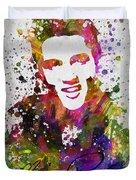 Elvis Presley In Color Duvet Cover