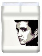 Elvis Presley Portrait Art Duvet Cover