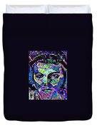 Elvis The King Abstract Duvet Cover