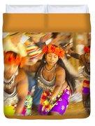 Embera Villagers In Panama Duvet Cover