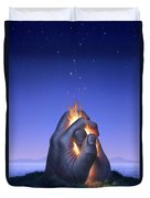 Embers Turn To Stars Duvet Cover by Jerry LoFaro