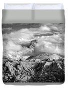 Embraced By Clouds Black And White Duvet Cover