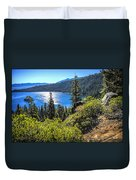 Emerald Bay Lake Tahoe California Duvet Cover