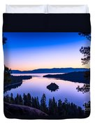 Emerald Bay Sunrise Duvet Cover
