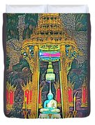 Emerald Buddha In Royal Temple At Grand Palace Of Thailand Duvet Cover