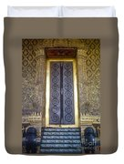 Emerald Buddha Temple Door Duvet Cover