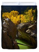 Emerald Canyon Duvet Cover