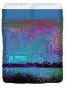 Emerald City Skyline Cubed Duvet Cover