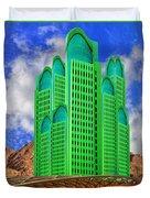 Emerald Desert Palm Springs Duvet Cover