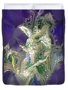 Emerald Elemental Duvet Cover