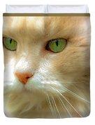 Emerald Eyes Duvet Cover