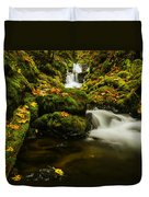 Emerald Falls In Columbia River Gorge Oregon Usa Duvet Cover