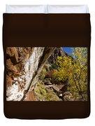 Emerald Falls Zion National Park Duvet Cover