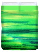 Emerald Flow Abstract I Duvet Cover
