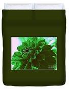 Emerald Green Beauty Duvet Cover