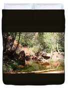 Emerald Pool Reflection Duvet Cover