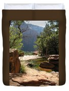 Emerald Pool View Duvet Cover