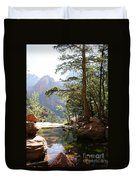 Emerald Pool - Zion Np Duvet Cover