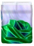 Emerald Rose Watercolor Duvet Cover