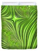 Emerald Scream Duvet Cover