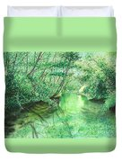 Emerald Stream Duvet Cover