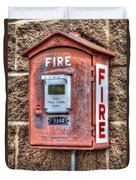Emergency Fire Box Duvet Cover