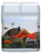 Emerging Monarch Duvet Cover