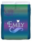 Emily Name Art Duvet Cover