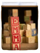 Emma - Alphabet Blocks Duvet Cover